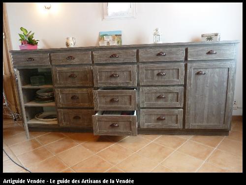 Création et fabrication d'un meuble enfilade